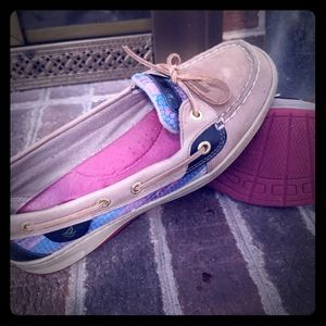 Lily Pulitzer colored Sperry's